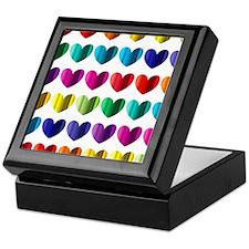 Foil Hearts Keepsake Box