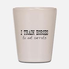 train horses apparel Shot Glass
