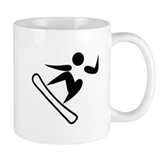 Snowboarding Pictograph Mugs