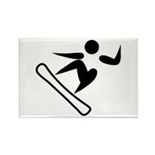 Snowboarding Pictograph Magnets