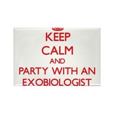 Keep Calm and Party With an Exobiologist Magnets