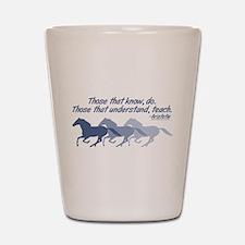 horses teach cup Shot Glass
