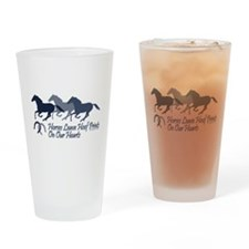 horse hoofprints psd Drinking Glass