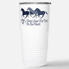 horse hoofprints psd Travel Mug