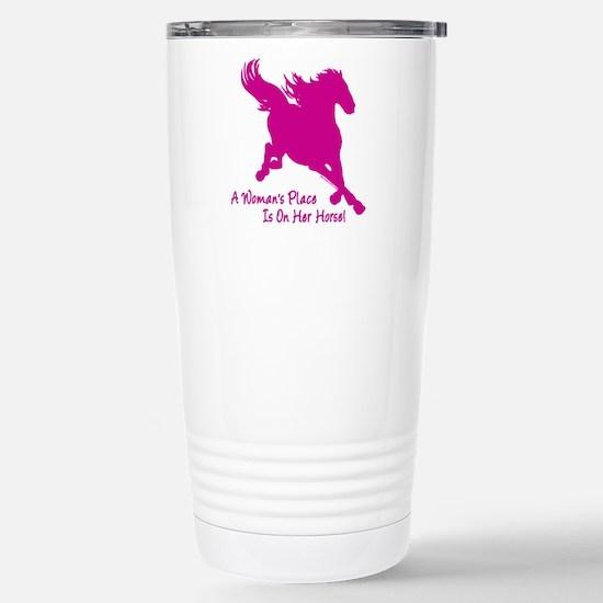 woman horse main Travel Mug