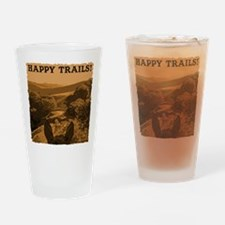 horses happy trails Drinking Glass