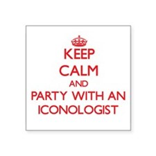 Keep Calm and Party With an Iconologist Sticker