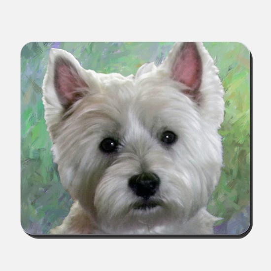 PORTRAIT OF A WESTIE Mousepad