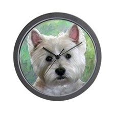 PORTRAIT OF A WESTIE Wall Clock