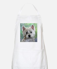 PORTRAIT OF A WESTIE Apron
