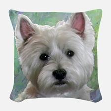PORTRAIT OF A WESTIE Woven Throw Pillow