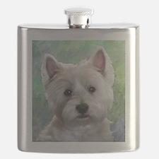 PORTRAIT OF A WESTIE Flask