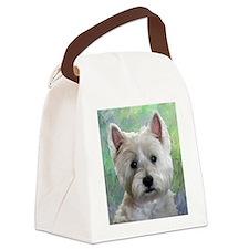 PORTRAIT OF A WESTIE Canvas Lunch Bag