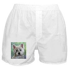 PORTRAIT OF A WESTIE Boxer Shorts