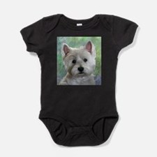 PORTRAIT OF A WESTIE Baby Bodysuit