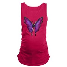 Plum Butterfly Maternity Tank Top