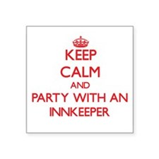 Keep Calm and Party With an Innkeeper Sticker