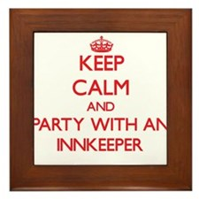 Keep Calm and Party With an Innkeeper Framed Tile