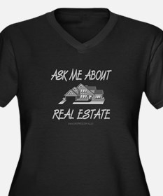 Ask About Real Estate Women's Plus Size V-Neck Dar