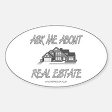 Ask About Real Estate Oval Decal