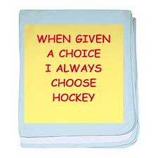 hockey baby blanket
