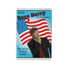 Dave Barry For President Rectangle Magnet
