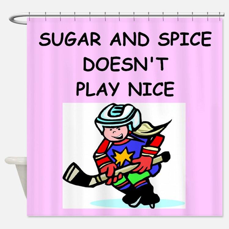 hockey Shower Curtain