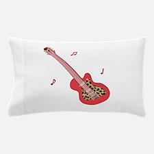 Red Leopard Guitar Pillow Case