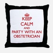 Keep Calm and Party With an Obstetrician Throw Pil