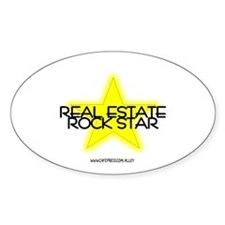 Real Estate Rock Star Oval Decal