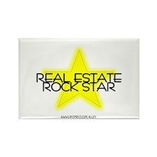 Real Estate Rock Star Rectangle Magnet