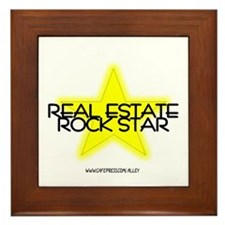Real Estate Rock Star Framed Tile