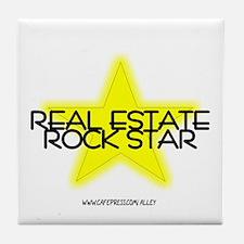 Real Estate Rock Star Tile Coaster