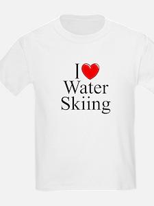 """I Love (Heart) Water Skiing"" T-Shirt"