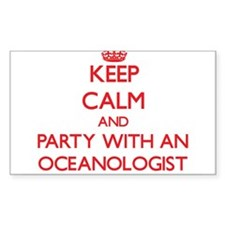 Keep Calm and Party With an Oceanologist Decal