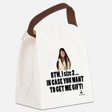 I'm Size 2 Canvas Lunch Bag