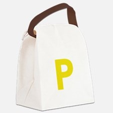 Letter P Yellow Canvas Lunch Bag