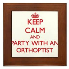 Keep Calm and Party With an Orthoptist Framed Tile