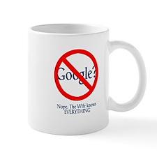 Google Wife Knows Everything Small Mug