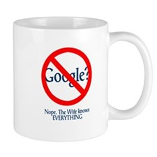 Google Wife Knows Everything Small Mug