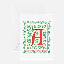 Elegant Renaissance Letter A Greeting Card