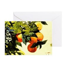 Oranges on a Branch; Winslow Homer p Greeting Card