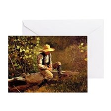 Winslow Homer - The Whittling Boy Greeting Card