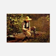 Winslow Homer - The Whittling Boy Rectangle Magnet