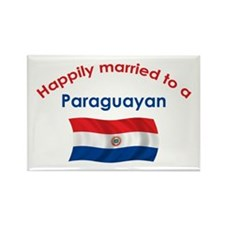 Happily Married To Paraguayan Rectangle Magnet