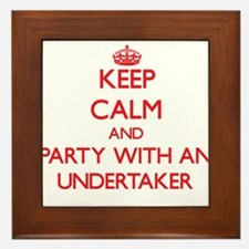 Keep Calm and Party With an Undertaker Framed Tile