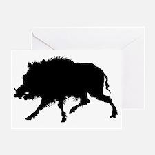 Wild Boar Running Wild Greeting Card