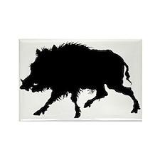 Wild Boar Running Wild Rectangle Magnet
