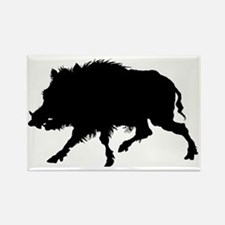 Wild Boar Running Wild Rectangle Magnet