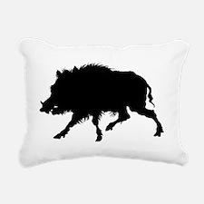 Wild Boar Running Wild Rectangular Canvas Pillow